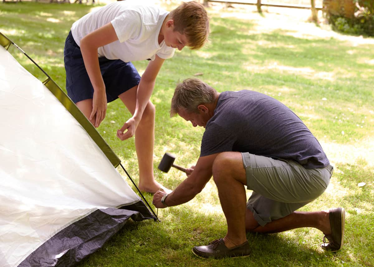 How to stake a tent tips